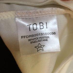 Tobi Dresses - NWT WHITE BODYCON DRESS
